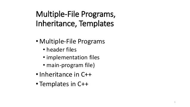 templates for programs