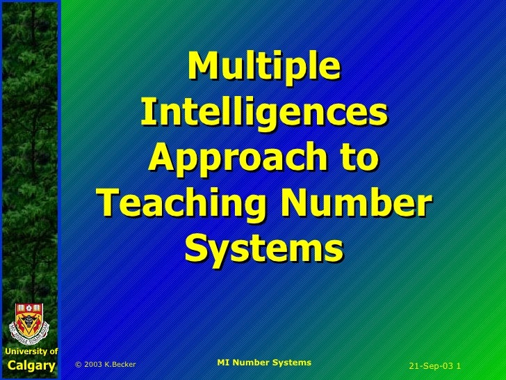 Multiple Intelligences Approach to Teaching Number Systems