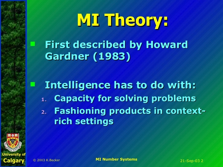 Multiple intelligences approach to Number Systems
