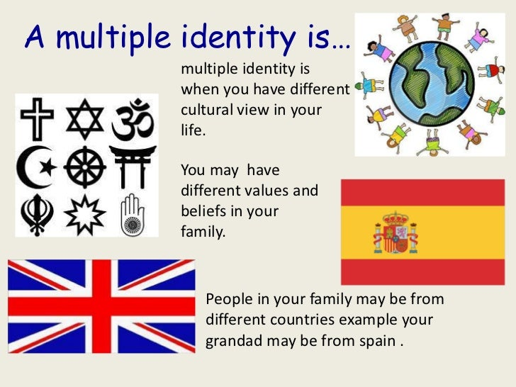 A multiple identity is…           multiple identity is           when you have different           cultural view in your  ...
