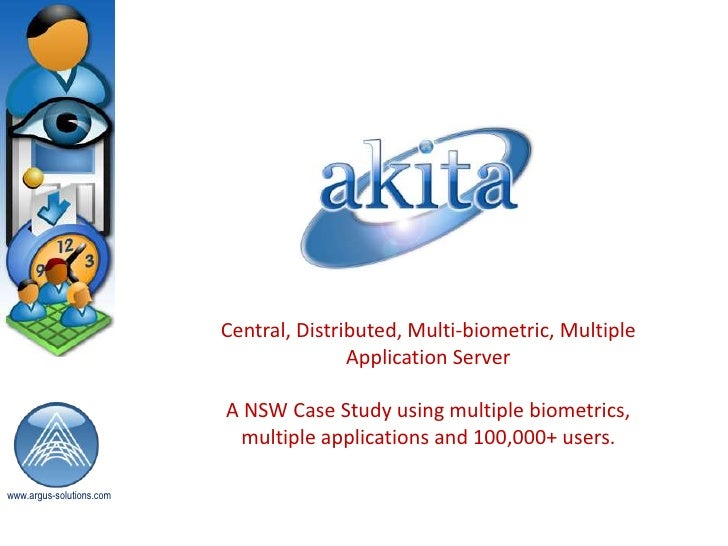 Central, Distributed, Multi-biometric, Multiple Application Server<br />A NSW Case Study using multiple biometrics, multip...
