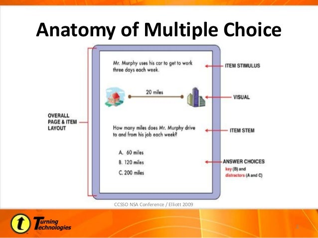 designing multiple choice questions