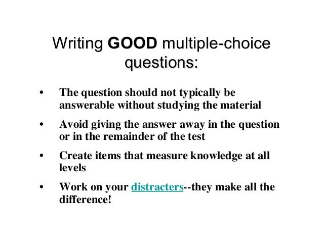 how to pass a multiple choice test without studying