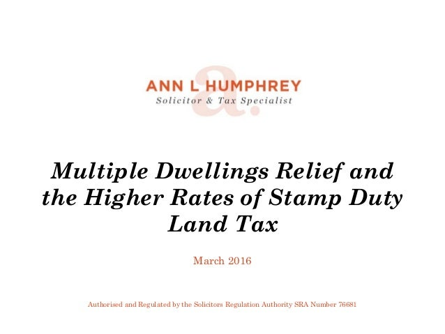 Multiple Dwellings Relief >> Multiple Dwellings Relief Higher Rates Of Sdlt March 2016