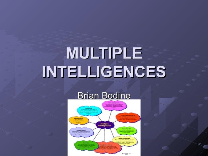 MULTIPLEINTELLIGENCES   Brian Bodine