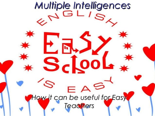 How it can be useful for EasyHow it can be useful for EasyTeachersTeachersMultiple IntelligencesMultiple Intelligences