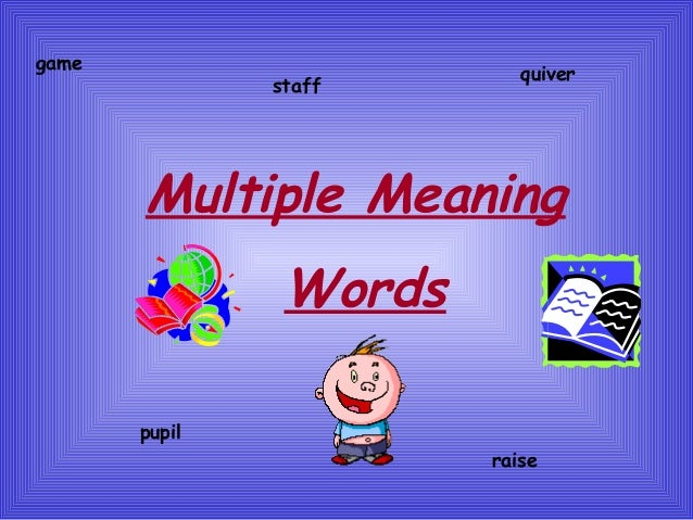 Multiple Meaning Words Ppt