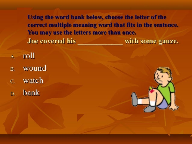 7 letter words ending in joe meaning words ppt 25224 | multiple meaning words ppt 10 638