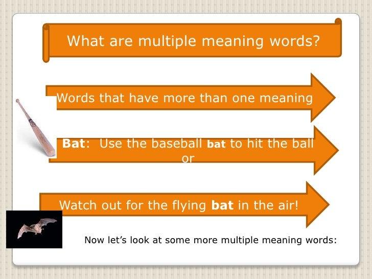 Multiple meaning words slide show Slide 2