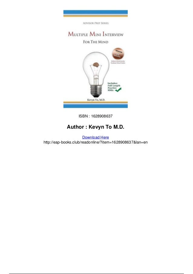 Multiple mini interview for the mind pdf