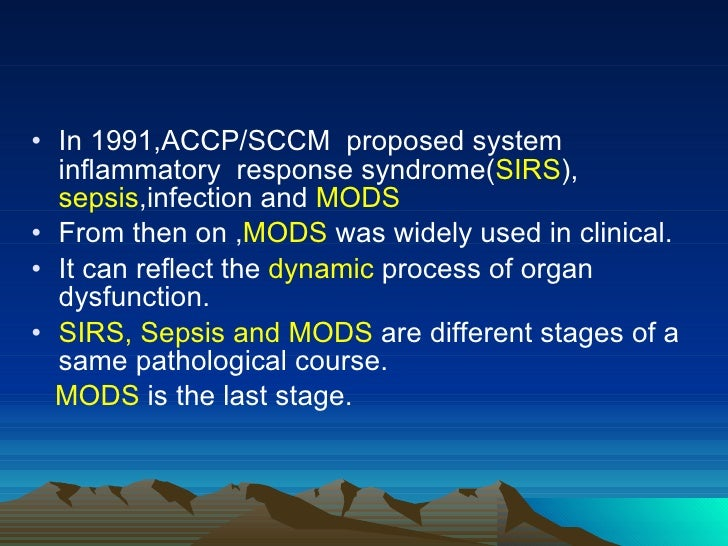 Multiple Organ Dysfunction Syndrome2009