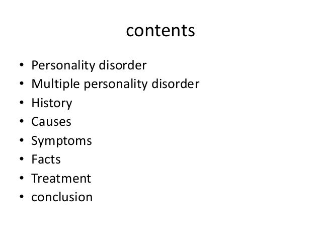 multiple personality disorder essay conclusion Conclusion in conclusion borderline personality disorder bpd is considered a from crj308 crj308 at ashford university.