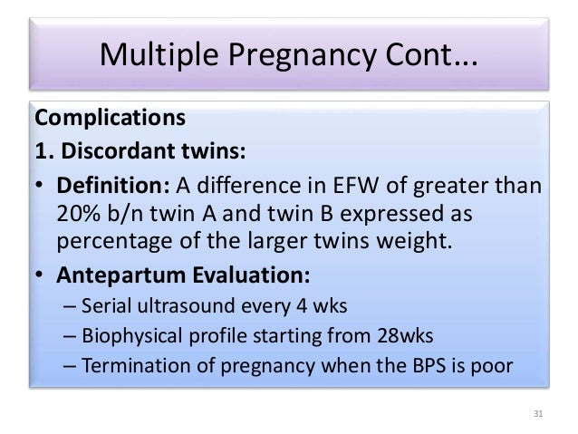 Bed Rest Following Twin Pregnancy