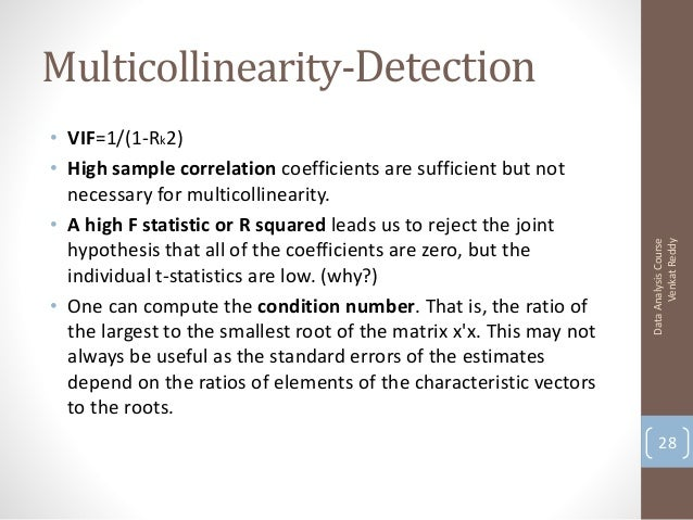 why is multicollinearity in a Enough is enough handling multicollinearity in regression analysis what is multicollinearity and why should i care if yes then why and if no then why.