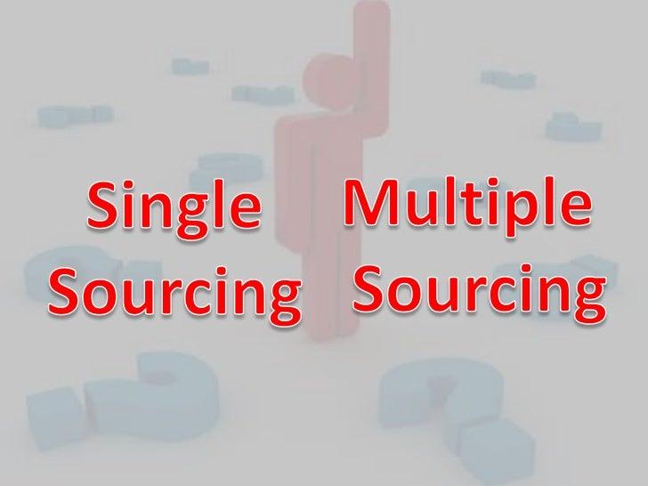 single sourcing vs multiple sourcing pdf