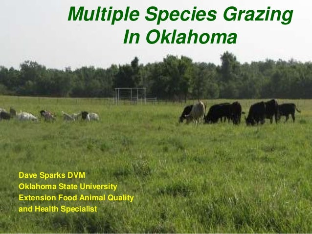 Multiple Species Grazing                  In OklahomaDave Sparks DVMOklahoma State UniversityExtension Food Animal Quality...