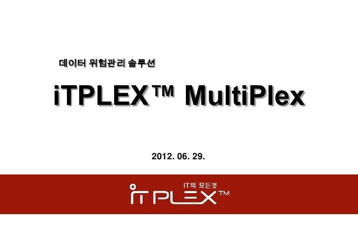 데이터 위험관리 솔루션iTPLEX™ MultiPlex           2012. 06. 29.
