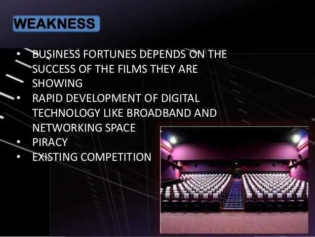 golden screen cinema swot and pest analysis Pvr limited as a brand is evaluated in terms of its swot analysis, competition, segment, target group, positioning  pvr cinemas non metro (tier 2 and 3 cities) – pvr talkies  gained exclusive rights to screen blockbusters from major distributors mainly warner brothers, 20th century fox etc.