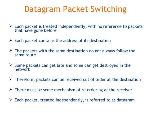 Multiplexing and switching(TDM ,FDM, Data gram, circuit ... Datagram Packet Switching
