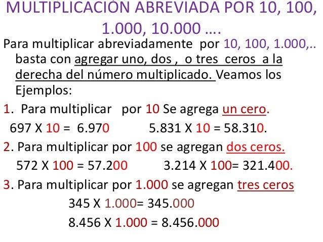 Multiplicación abreviada Slide 2