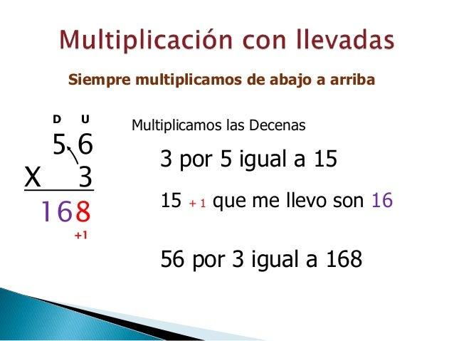 Resultado de imagen de MULTIPLICACIONES CON LLEVADAS