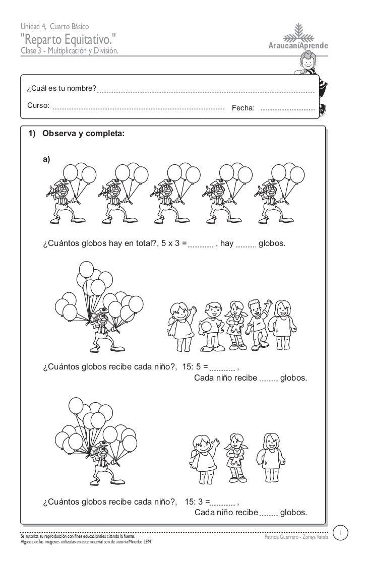 Multiplicacion y division for Div p