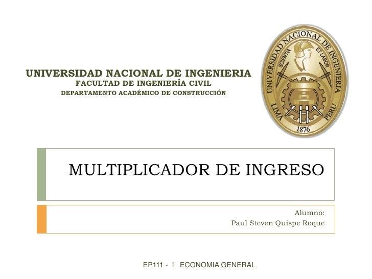 UNIVERSIDAD NACIONAL DE INGENIERIA        FACULTAD DE INGENIERÍA CIVIL     DEPARTAMENTO ACADÉMICO DE CONSTRUCCIÓN      MUL...