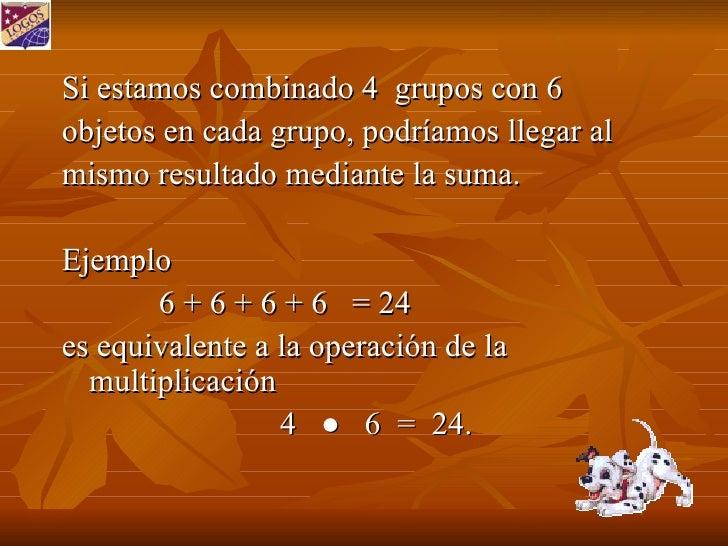 Multiplicar Mediante Suma Repetida Slide 3