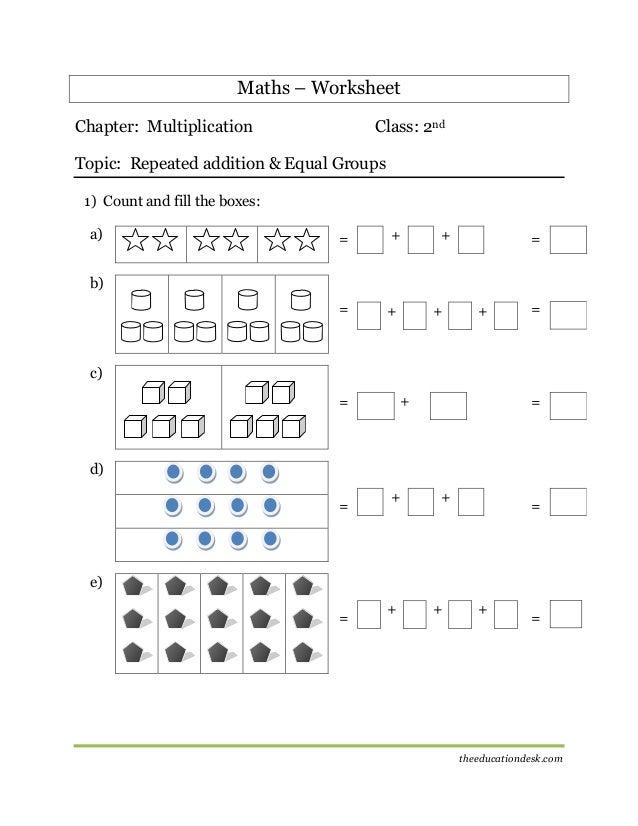 Maths: Multiplication Worksheet (CBSE Grade II )