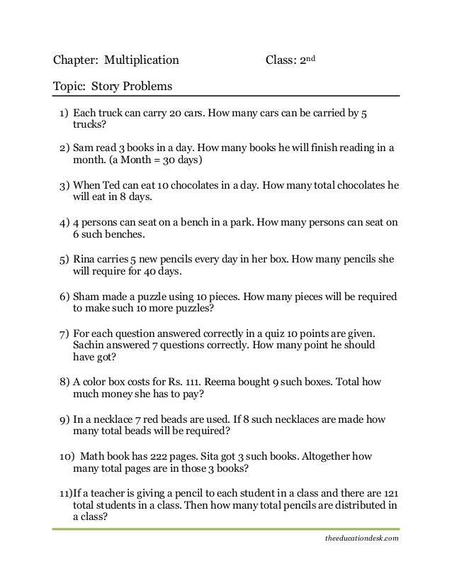 Maths Multiplication Worksheet CBSE Grade II – Math Tutoring Worksheets