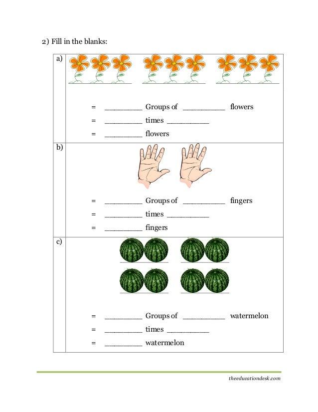 Maths Multiplication Worksheet CBSE Grade II – Multiplication Worksheets Year 2