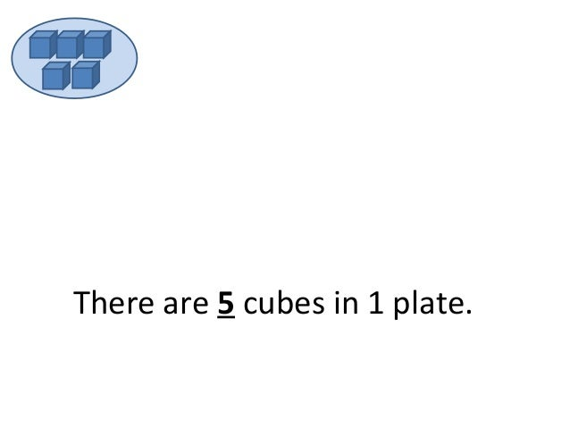 There are 5 cubes in 1 plate.