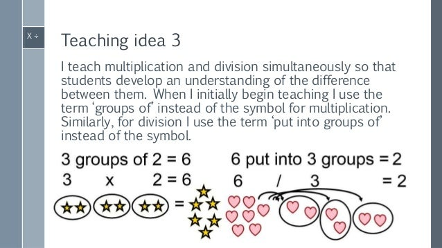 Multiplication & division teaching ideas