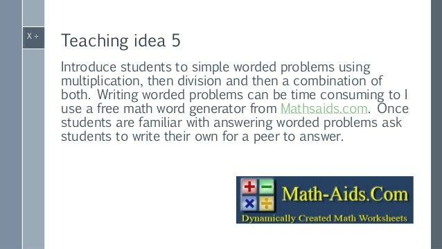 Multiplication & division teaching ideas