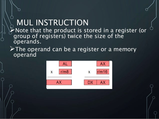 Multiplication Division Instructions Microprocessor 8086
