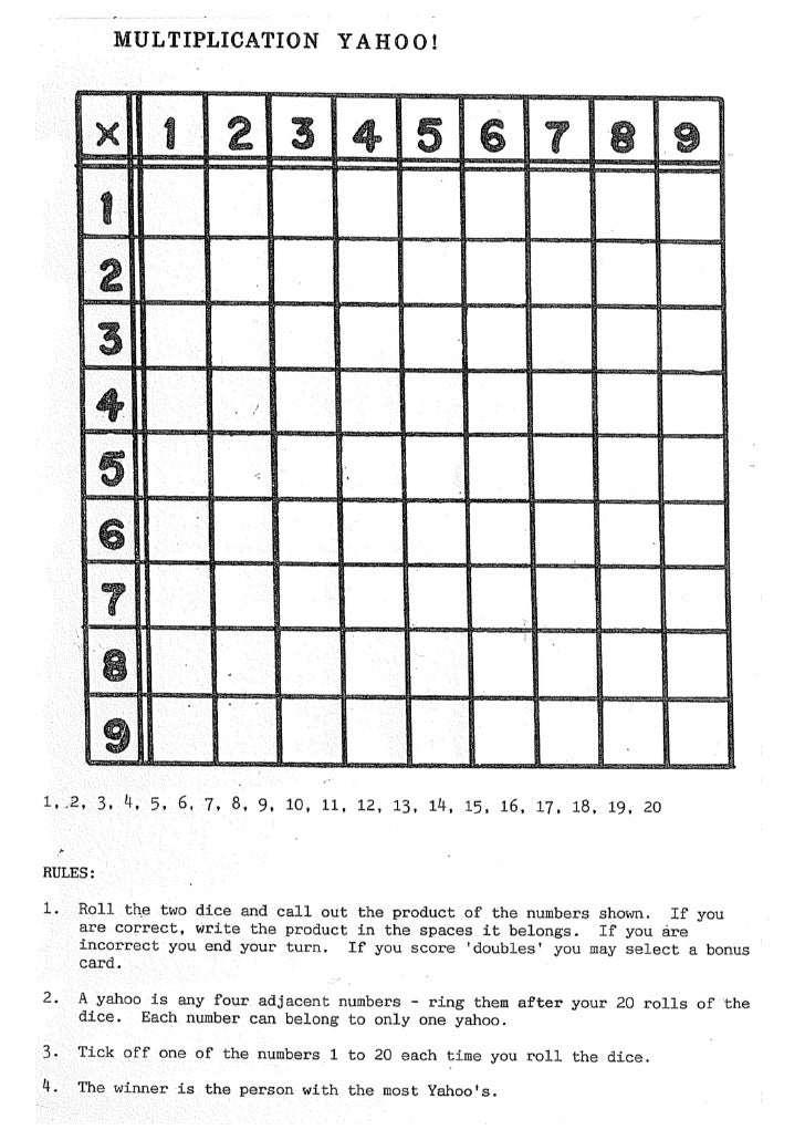 Multiplication yahoo