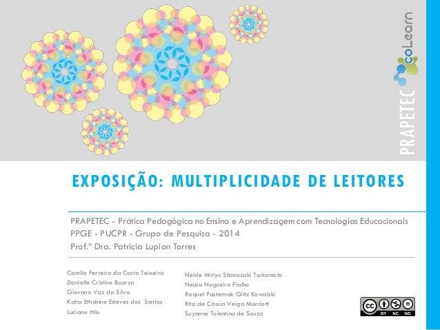 EXPOSIÇÃO: MULTIPLICIDADE DE LEITORES  PRAPETEC -Prática Pedagógica no Ensino e Aprendizagem com Tecnologias Educacionais ...