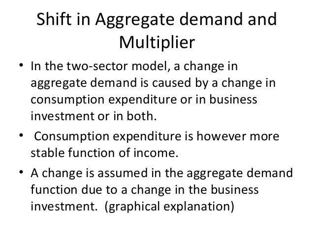 Shift in Aggregate demand and Multiplier • In the two-sector model, a change in aggregate demand is caused by a change in ...