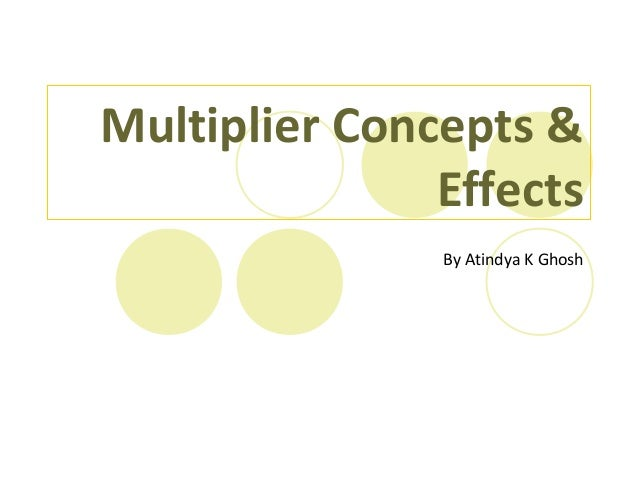 Multiplier Concepts & Effects By Atindya K Ghosh