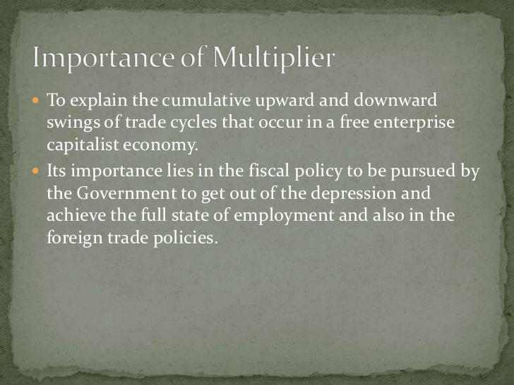  To explain the cumulative upward and downward   swings of trade cycles that occur in a free enterprise   capitalist econ...