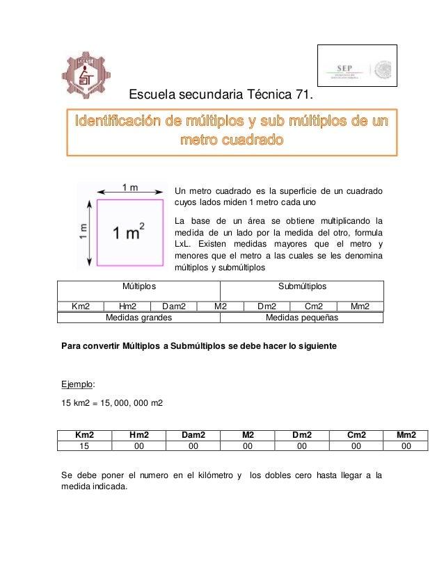 Metro cuadrado y sus multiplos - Pasar de metros a metros cuadrados ...