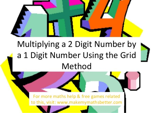 Multiplying a 2 Digit Number by a 1 Digit Number Using the Grid Method For more maths help & free games related to this, v...