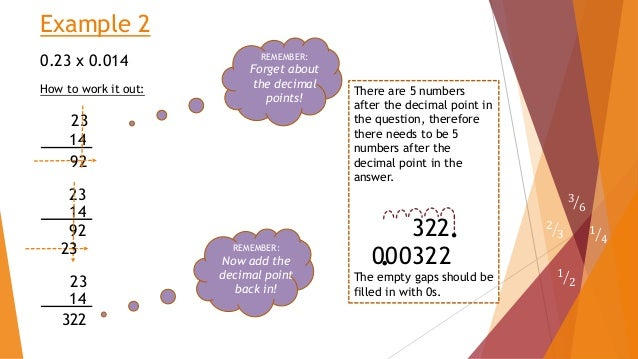 how to work out multiplying decimals