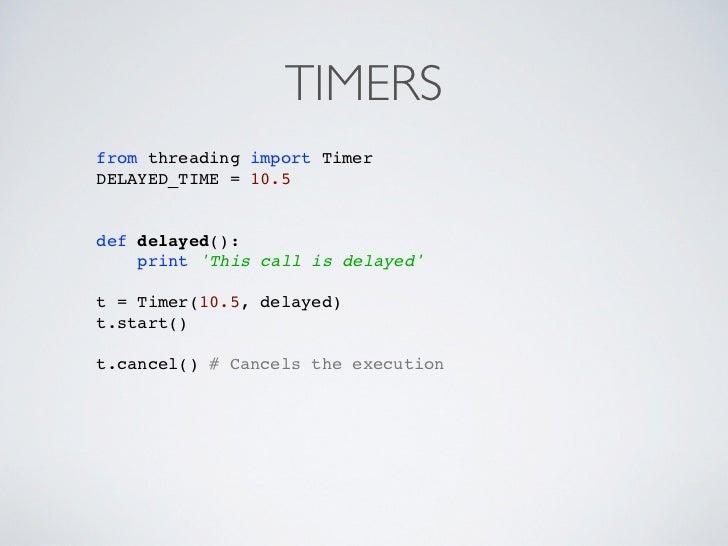 Threading timer python
