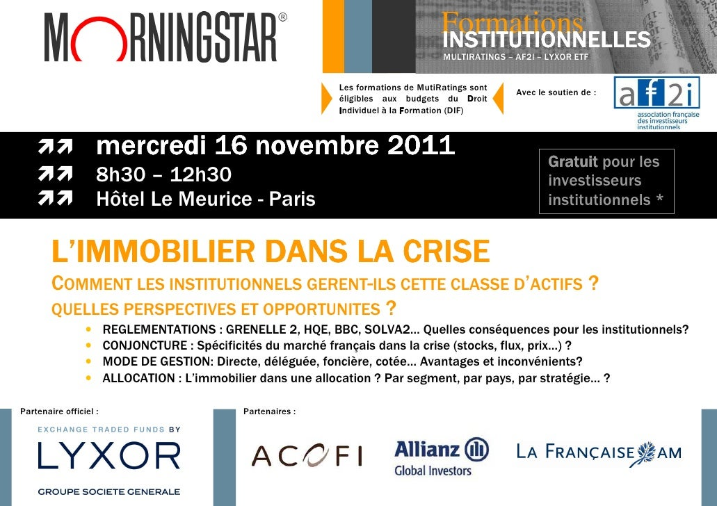 Formations                                                                                     INSTITUTIONNELLES          ...