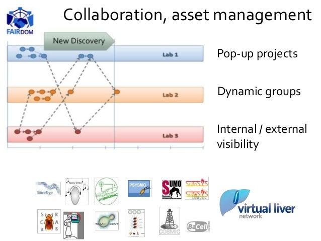 Collaboration, asset management Pop-up projects Dynamic groups Internal / external visibility