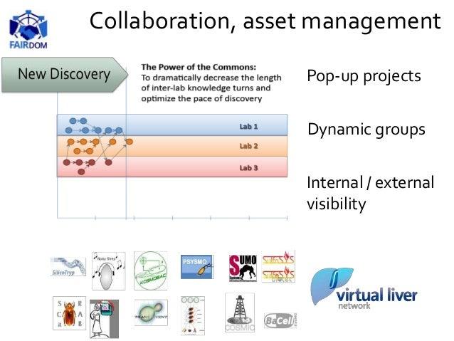Pop-up projects Dynamic groups Internal / external visibility Collaboration, asset management
