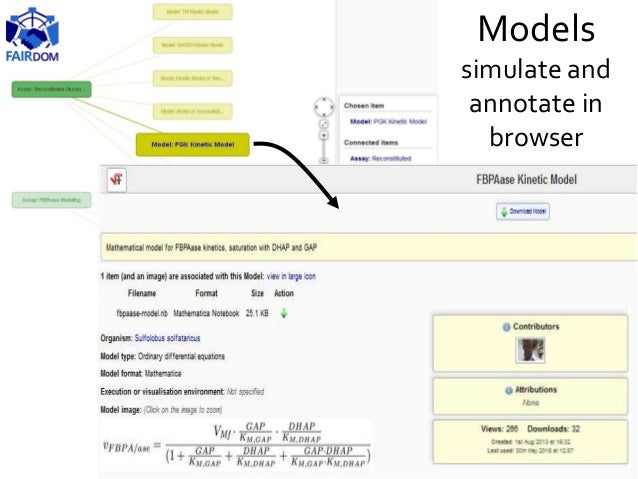 Models simulate and annotate in browser