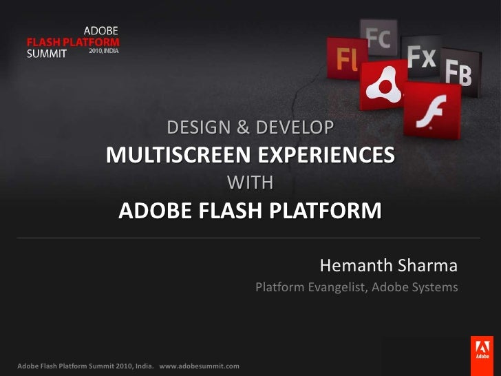 Multiscreen with Flash Platform