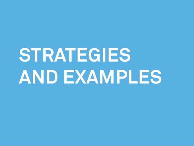 strategies and examples